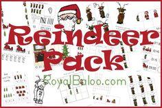 Free Reindeer Printable Packs homeschool holiday, free reindeer, kiddo stuff, activities for kids, prek, reindeer printabl, christma idea, printabl pack, christma printabl