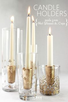 DIY Candle Holders -