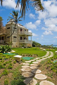 Cliff Top Beach House at Crane Beach, Barbados (by Neilson Reeves).