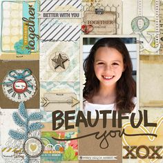 I love a grid design.  Doris, is the talented creator of this page. grid design, digital scrapbooking, scrapbook idea, talent creator, scrapbook layout