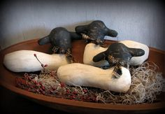 Primitive Sheep Spring Home Decor Bowl Filler Ornies by ThatSallie, $12.00