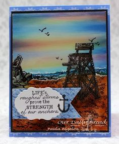 Stamps - Our Daily Bread DesignsAnchor the Soul, Crocheted Border, My Lifeguard, ODBD Christian Faith Paper Collection, ODBD Custom Pennants Die, ODBD Custom Vintage Labels Die