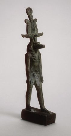Egyptian    Statuette of Sobek, Late Period, Dynasty 26–31 (c. 664–332 B.C.)    Bronze