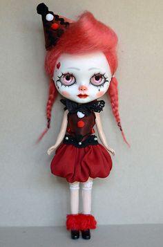 Little Clown by Art_emis  #dolls #dollies #blythe #handmade #artdoll #ooak