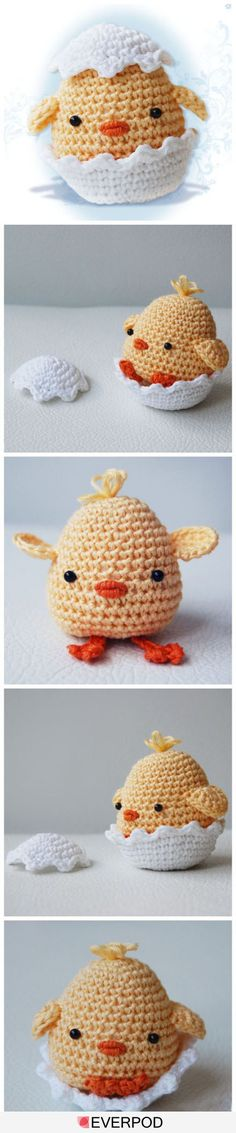 cute crochet chick