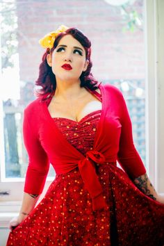 Curves to Kill...  accentuate the bust and flatter the hips with this style... plus the red is hot!