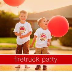 boy parti, birthday theme, birthday parties, parti theme, kid parti, fire truck, parti idea, firetruck parti, shirt