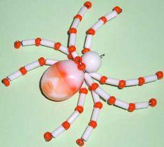 Instrucciones de naranja araña Beads |