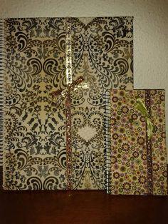 Libreta y agenda forradas en tela by La Maryeta