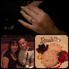 """""""Picture from our engagement day on the 18th of July in Anaheim. After working and living solo in New York City for two months I was on my way back to Australia via California. Jay flew over to LA and surprised me. This is us at dinner on our last night before flying home to Sydney.""""  #Sydey #jamesallen #proposal"""