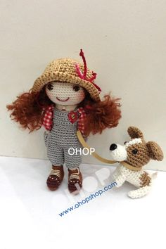 Jennifer doll (made-to-order) with a puppy