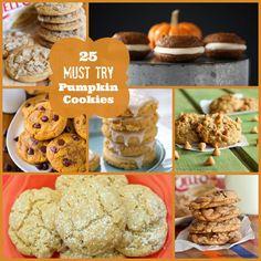 25 Must Try Pumpkin Cookies!