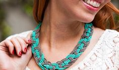 Make This Woven Bead Statement Necklace for Under $15!