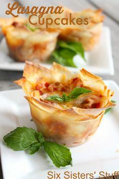 Easy Lasagna Cupcakes