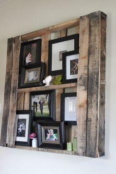 pallet picture frames