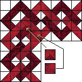 link border, pattern, quilt border, link quilt, half square triangles, block, border idea, bind, chain border