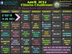 April Shred Fitness Challenge - 30-Day Workout Calendar | My Dream Shape!
