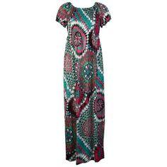 Colorful Elasticated Short Sleeve Long Maxi Dress
