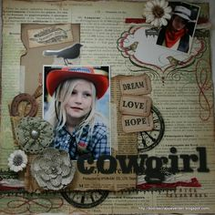 Cowgirl scrapbook layout