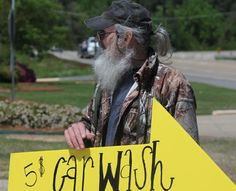 Si working for the Charity Car Wash...