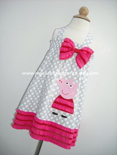 Peppa Pig Girl Halter Neck Dress by mycutebabystore1 on Etsy, $32.00