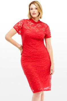 plus size clothes hot red