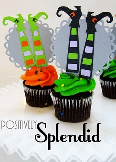 witch cupcake toppers. I could use these as a template for sugar/gum paste