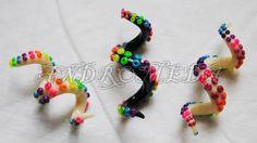 Rainbow Tentacle Dreadlock Bead