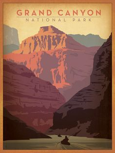 Pinned for my sweet parents who visited this classic National Park for the first time a couple of months ago. #vintage #travel #poster #vacation #Grand #Canyon