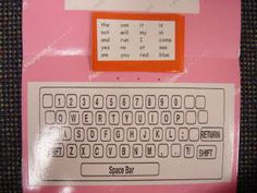 students practice spelling sight words on keyboard