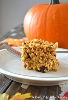 A Pretty Life in the Suburbs: Pumpkin Spice Baked Oatmeal