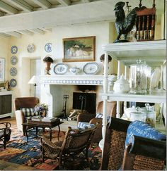 interior, living rooms, news, french country, ginni magher, sitting rooms, beam, kitchen, live room