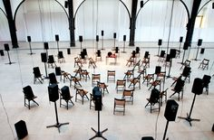 """""""The Murder of Crows,"""" 2008, by Janet Cardiff & George Bures Miller. Sound installation view / Photo: Detlef Fiedler; Courtesy the Artists"""