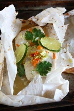 Thai Fish in Paper