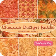Cheddar Delight Batiks Fat Quarter Bundle Hoffman Fabrics - Fat Quarter Shop