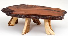 Redwood & Juniper Coffee Table with Legs - Item #CT03143 - Custom Sizes Available - Each is Unique - Every Piece a Work of Art!