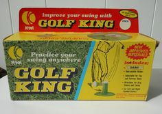 VINTAGE K-TEL GOLF KING WITH BOX-PRACTICE YOUR SWING ANYWHERE