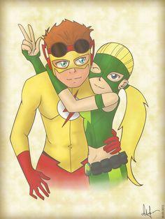 Kid Flash X Artemis Kid Flash and Artemis