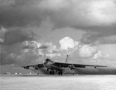 Boeing B-47 Stratojet at takeoff