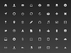A set of 218 UI minimal icons (16px) for free download.