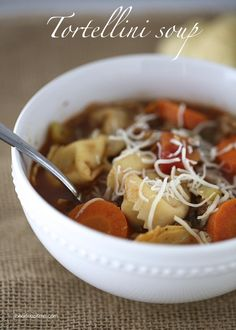 Tortellini sausage soup on iheartnaptime.com ... easy and delicious! #soup #recipes