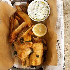 Fish and Chips with Homemade Tartar #Fish #MainDish