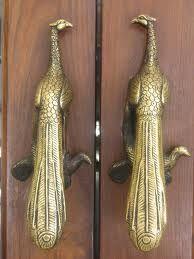 Peacock door handles.