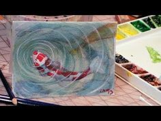 The Frugal Crafter Watercolor Tutorials on YouTube - Koi Fish