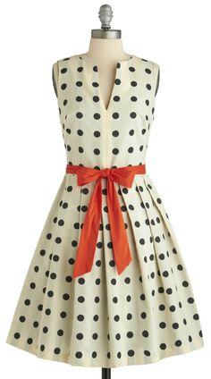 perfect polka dots!Flare Dress #womenfashion #nicedress #sunayildirim #FlareDress #Flare #Dresses #cute