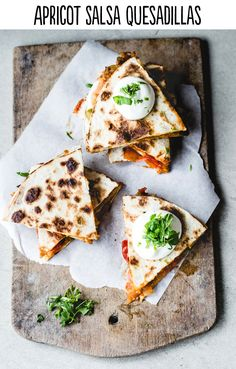 Apricot Salsa Quesadillas #Storets #Inspiration #food