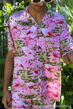 Single and Ready to Flamingle? Mens two piece set. Flamingo hawaiian shirt and matching shorts. 'Flirty Flamingo'. Get this ultimate party kit for day at the beach, luau, cruise, rugby, bachelor party, cricket or the pub!  #cabana #partykit #flamingohawaiians #partyshirts #hawaiianshirts #flamingofriday #hawaiianshirtandshorts #cabana #partykit #bachelorparty #springbreak #cruise #flamingoparty #festivalshirts #festivalfashion #springbreak