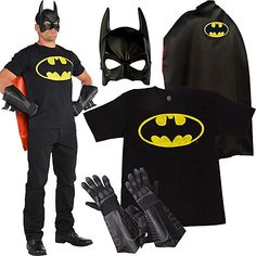 Create a casual caped-crusader look! With a bat-symbol t-shirt, cape and a few key Batman accessories, you'll be ready to go BAM! BOOM! POW!