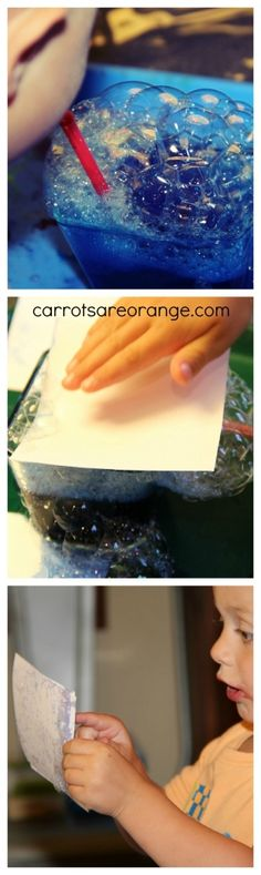 Bubble Painting Activity with Kids