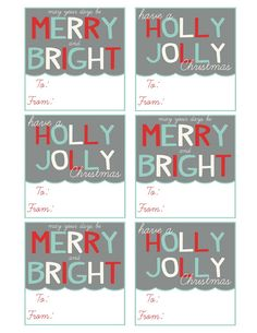 Mommy by day Crafter by night: Printable Christmas Gift Tags 2012